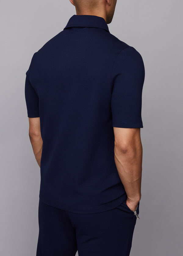 ONE BUTTON POLO - NAVY