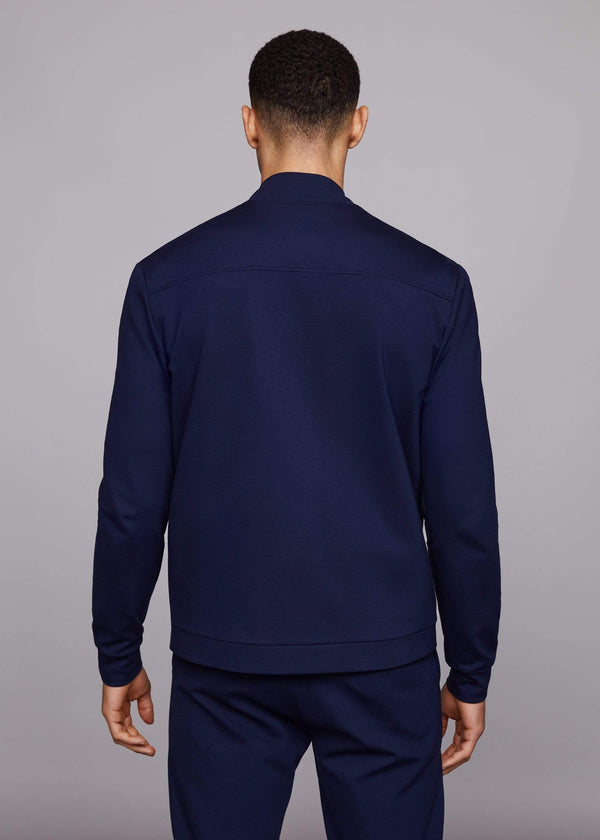 PLACKET BOMBER TOP - NAVY