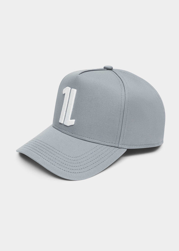 WHITE 1s CAP - GREY
