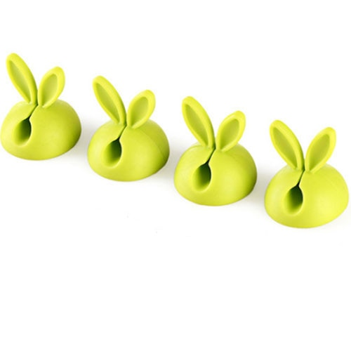 Rabbit Shaped Wire Clip Organizer (4 Pieces)