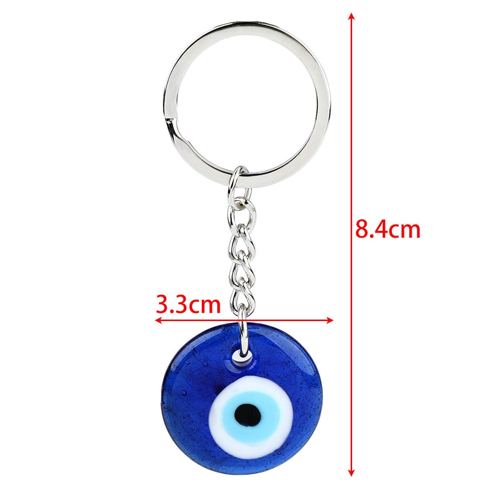Greek Blue Eye Charm Keychain