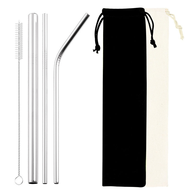 Reusable Metal Drinking Straws Package