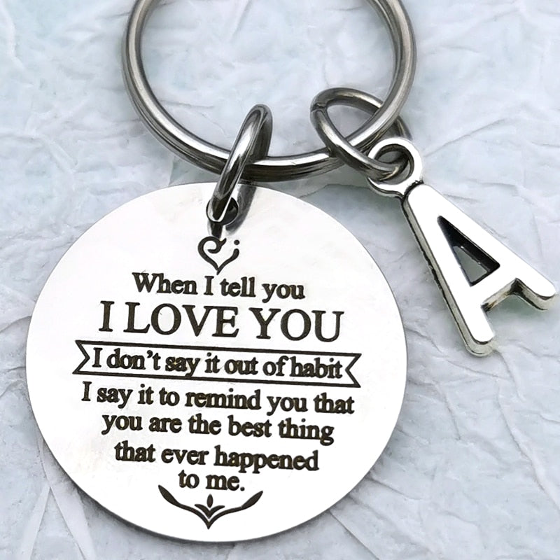 Love Keychain with Initials