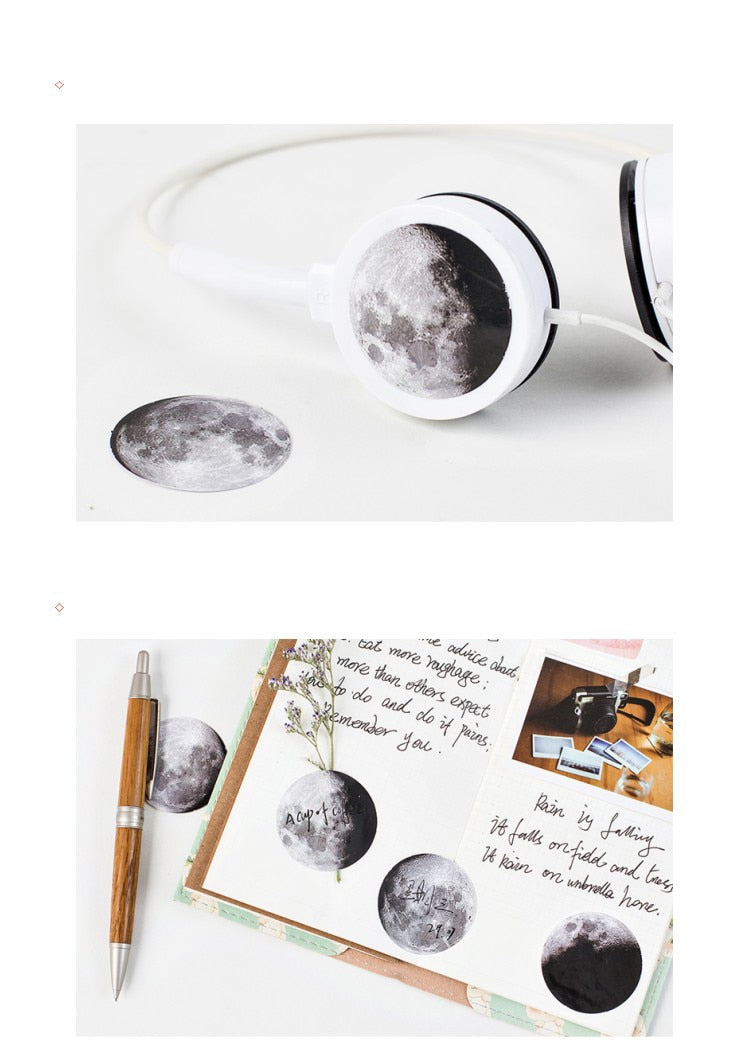 Shades of the Moon stickers (45 pieces)