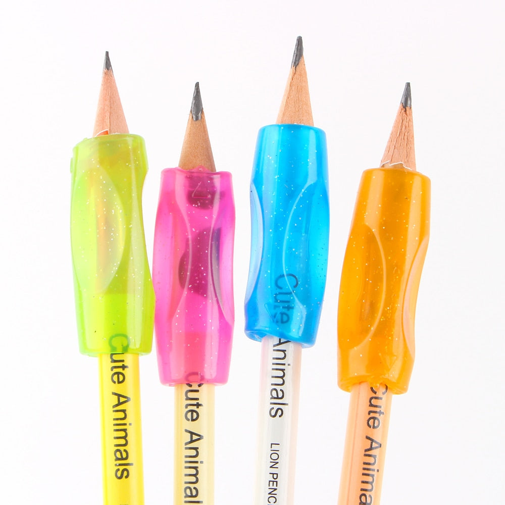 Pencil Holders for Smooth Writing (4 pieces per set)