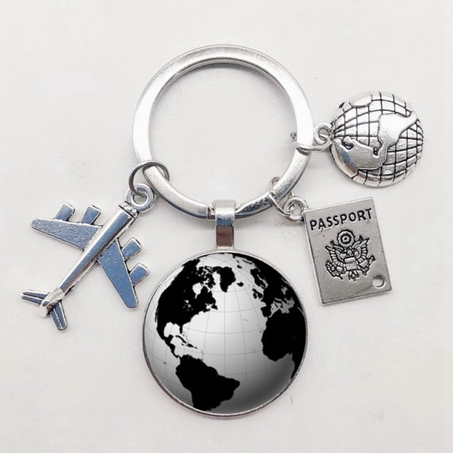 World Map Keychain