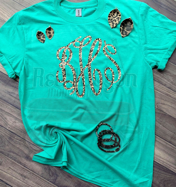 Leopard Tee and Earring Set