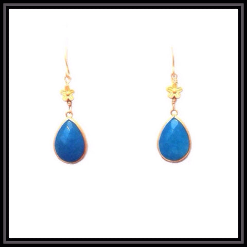 Blue Jade Earrings - SOLD OUT