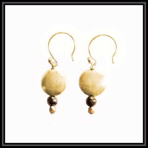 Shorty Gold and Hematite Earrings