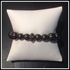 Hematite and Pyrite Beaded Bracelet