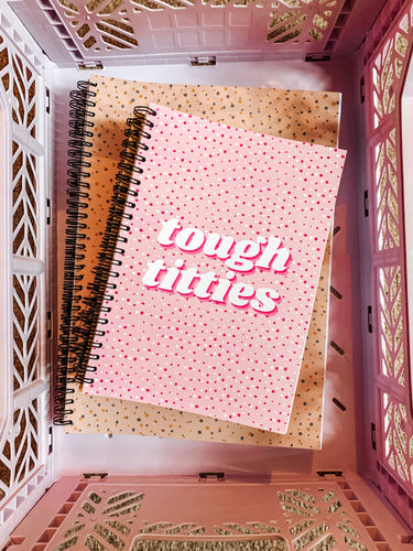 Tough Titties A4 or A5  notebook choice of Hard or Soft Cover.