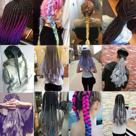 various ways to use hair extensions from comfy era colored fake hair