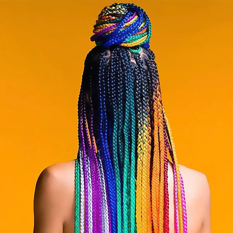 rainbow hair extensions colored hair extensions from comfy era