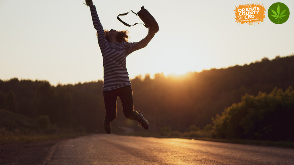 Women jumping with happiness
