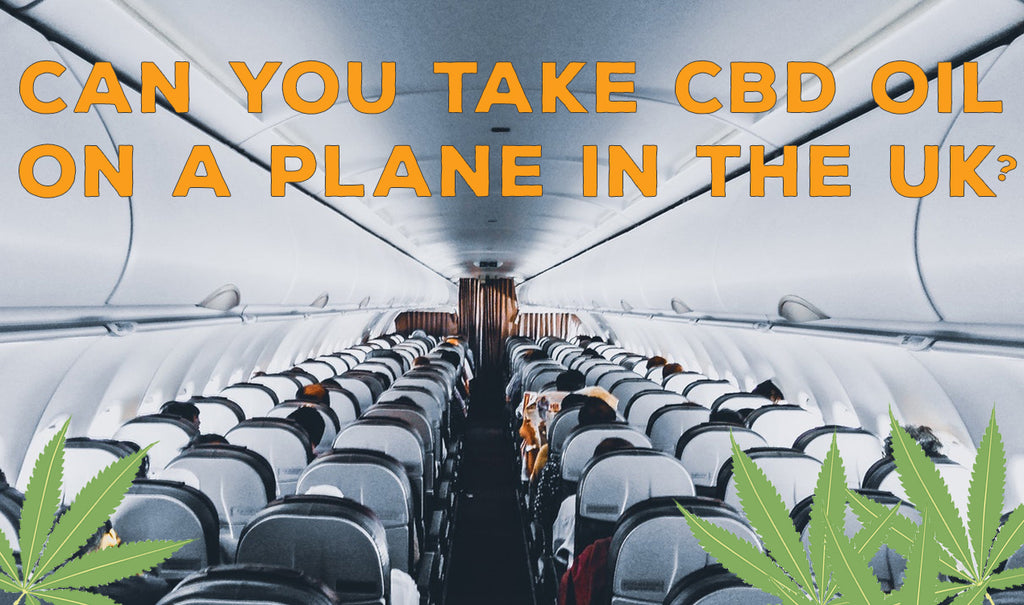 Article title inside of a plane with cannabis leaf.