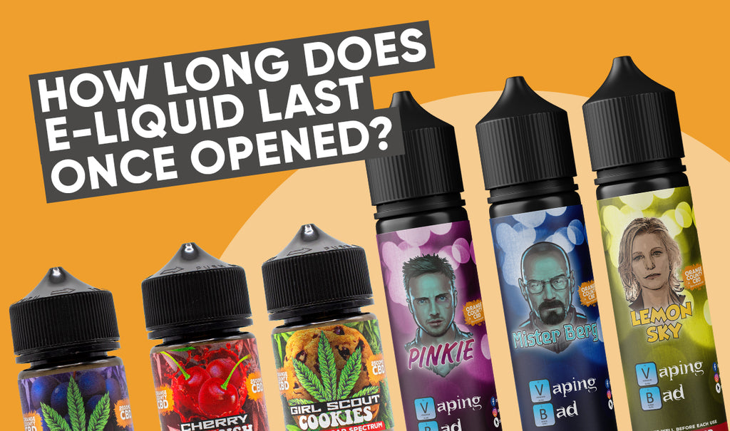 How long does E-liquid last once opened?
