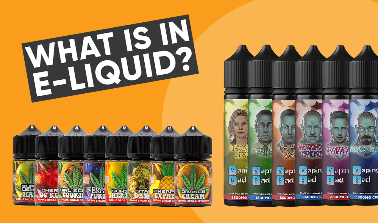 What is in E-liquid?