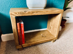 Small home office rustic coffee table