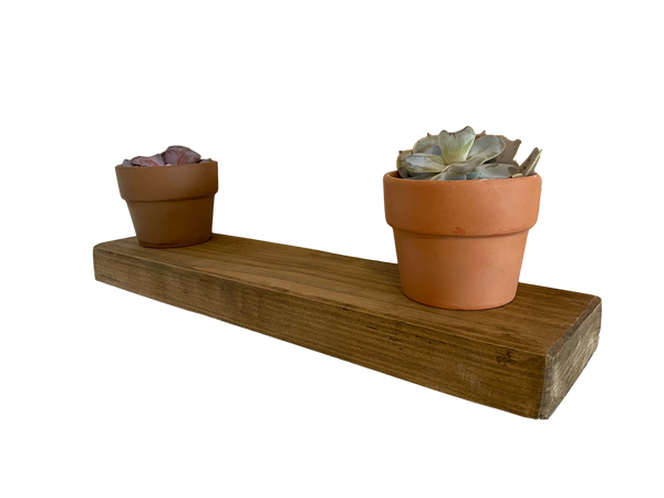 Reclaimed rustic floating shelf