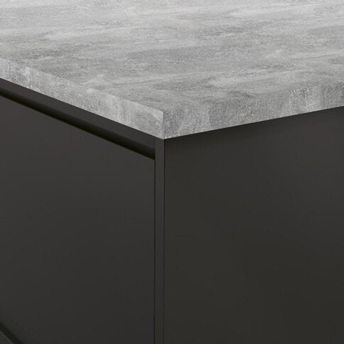 3.6m x 38mm Square Grey Concrete Effect Laminate Kitchen Worktop