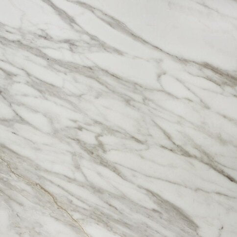 3.6m x 38mm Square White Marble Effect Laminate Kitchen Worktop