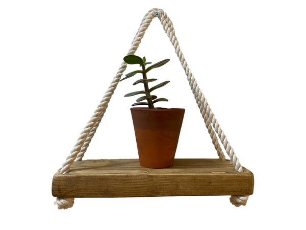 Reclaimed Wood Rope Shelf