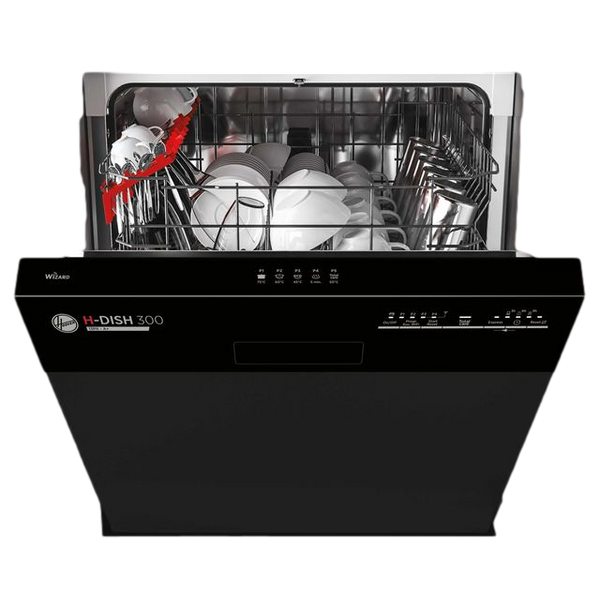 Hoover Semi Integrated Standard Dishwasher - Black