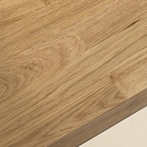 3m x 40mm Pre-finished Oak Solid Wood Worktop