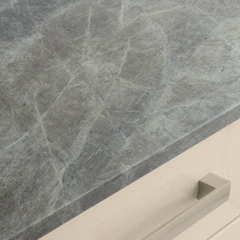3m x 38mm Grey Slate Effect Full Bullnose Laminate Worktop