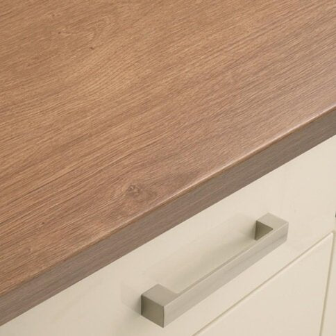 3.6m x 38mm Oak Effect Full Bullnose Laminate Worktop