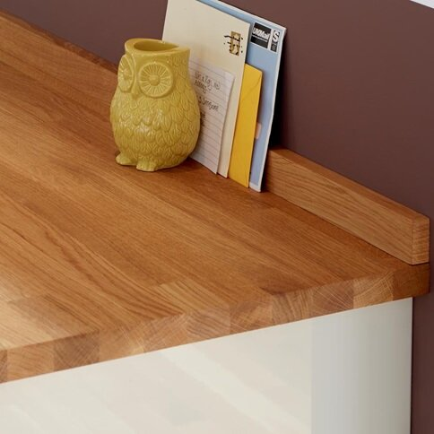 3m x 40mm Unfinished Oak Solid Wood Worktop