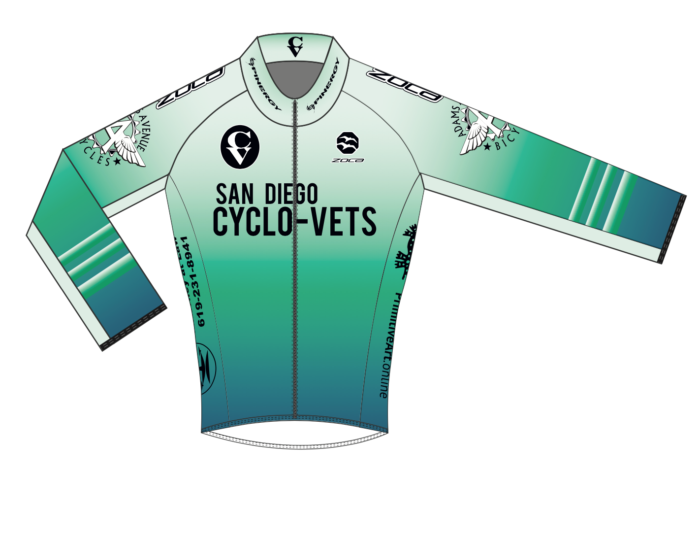 2021 CycloVets Men's Long Sleeve Pro Jersey