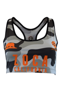 ORANGE CAMO Women's Sport Bra