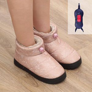 Walkable rechargeable electric heating shoes❤