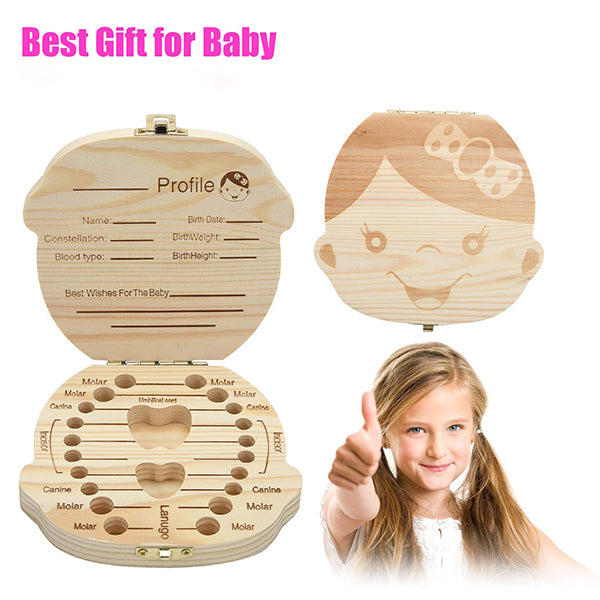 👶Baby Milk Teeth Lanugo Storage Wood Box🎁
