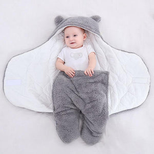 Baby Sleeping Bag Ultra-Soft Fluffy Newborn Receiving Blanket【Free Shipping Over $39】
