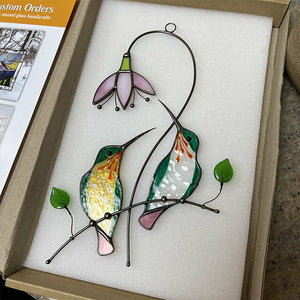 Window Hangings Stained Glass Hummingbird --🎁Mothers Day Gift🎁