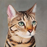paintmyfurkids hand-painted pet portrait oil painting brown cat