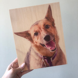 Photo On Wood Print