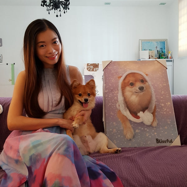 Custom Pet Portrait Oil Painting (Standard Style: Paint-Per-Photo)
