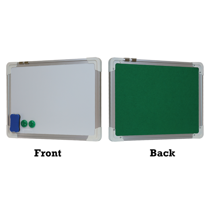 Double Sided Small Whiteboard - Magnetic & Felt Boards