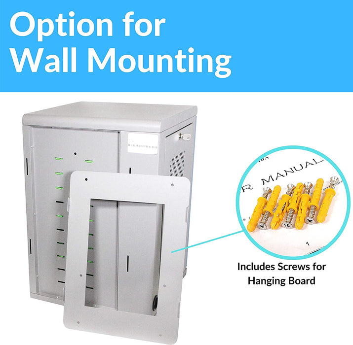 Y810A - Wall Mount 10-Unit Charging Cabinet