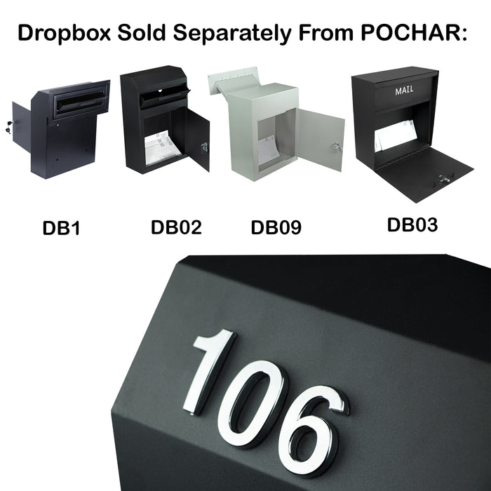 Plastic Reflective Mail Box Numbers - Two Sets of 0 to 9