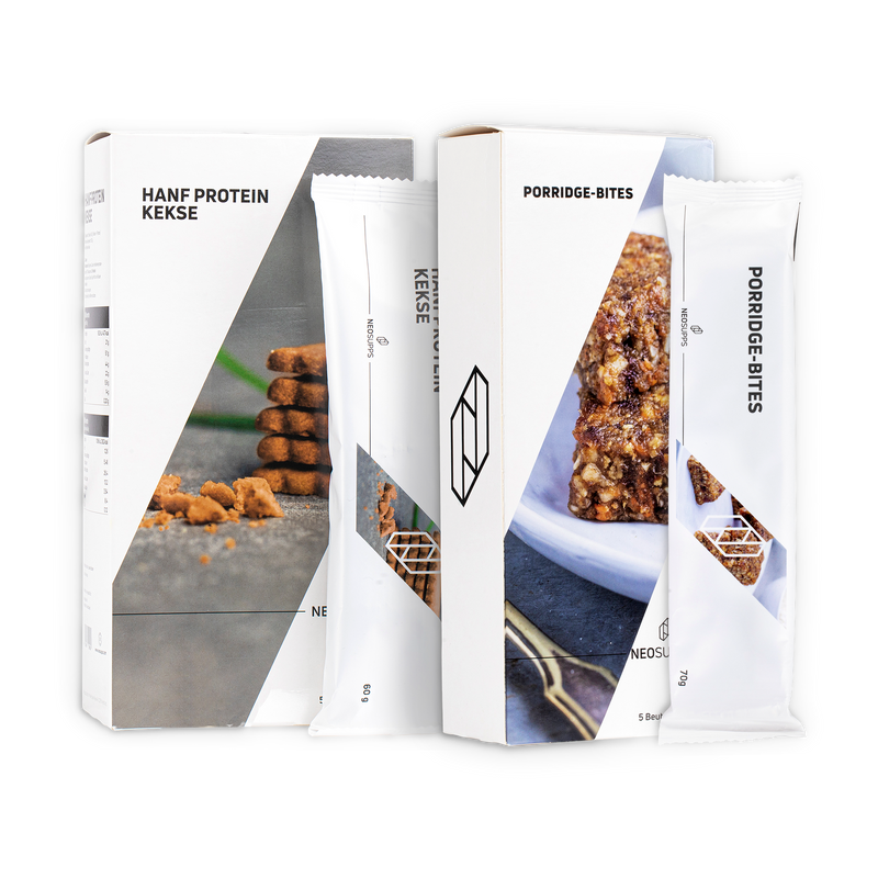 Bundle SNACKS Hanfproteinkekse & Porridge-Bites