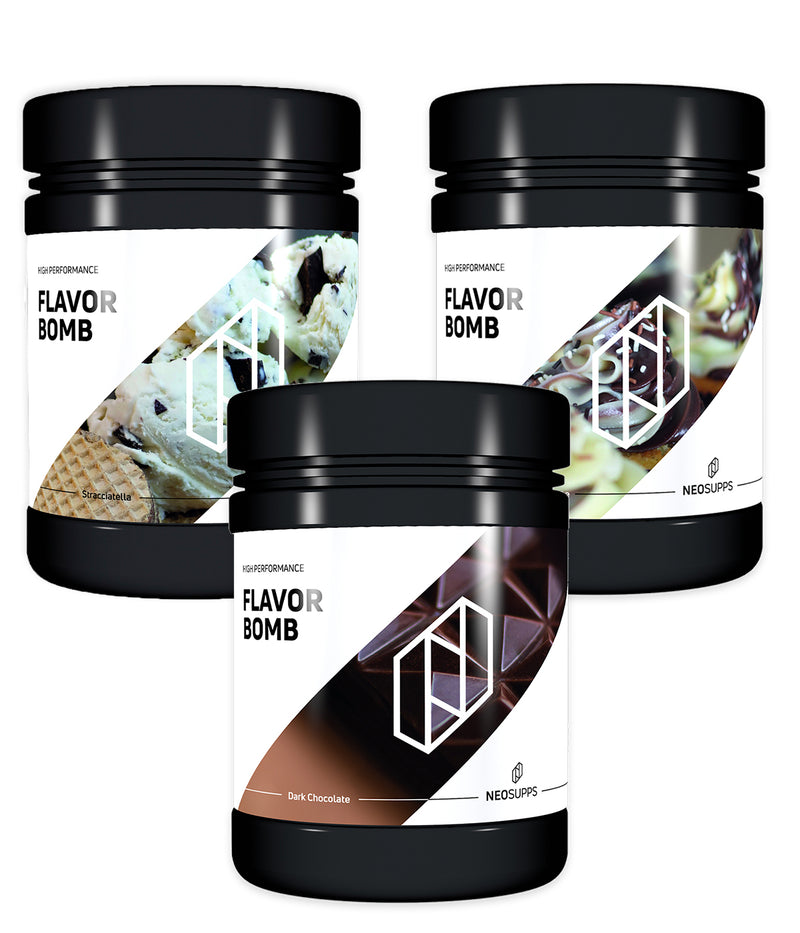 Bundle FLAVOR BOMB Creamy Milk Chocolate & Stracciatella & Chocolate