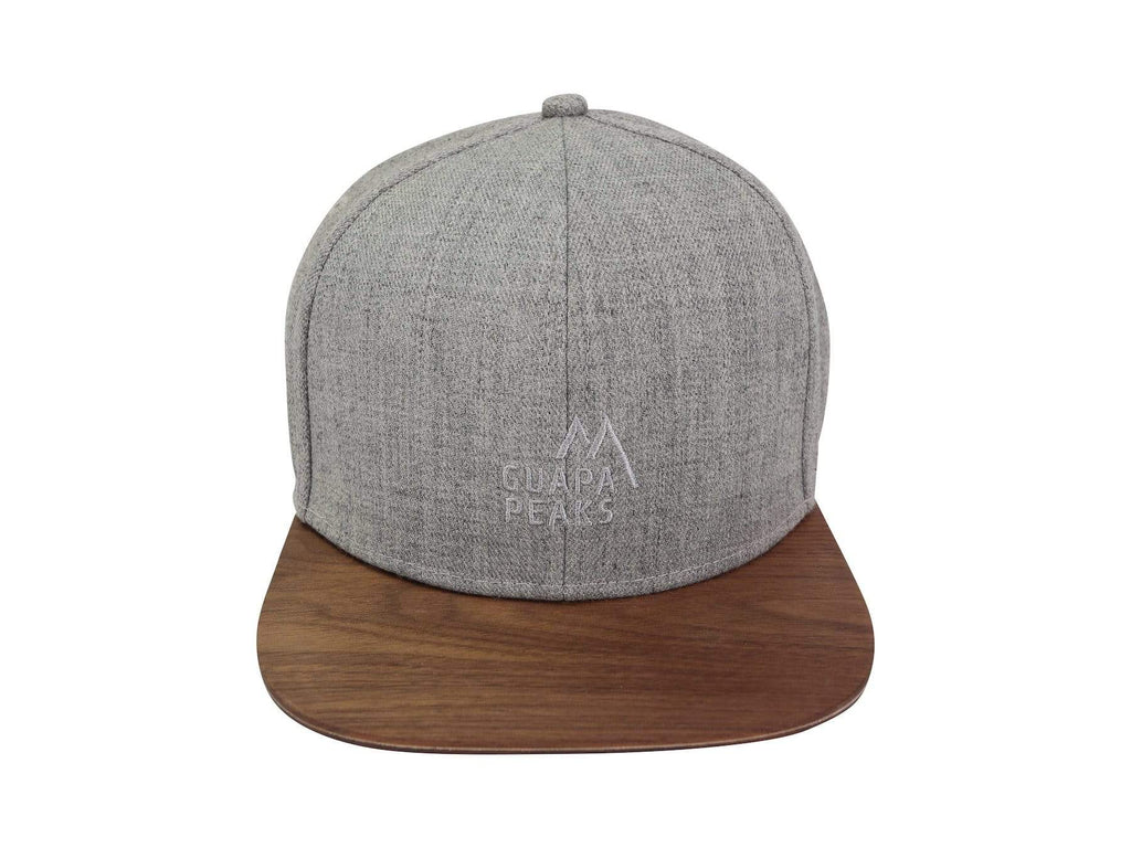 Grey 6 Panel Cap Set | Walnut + Free Fabric Visor