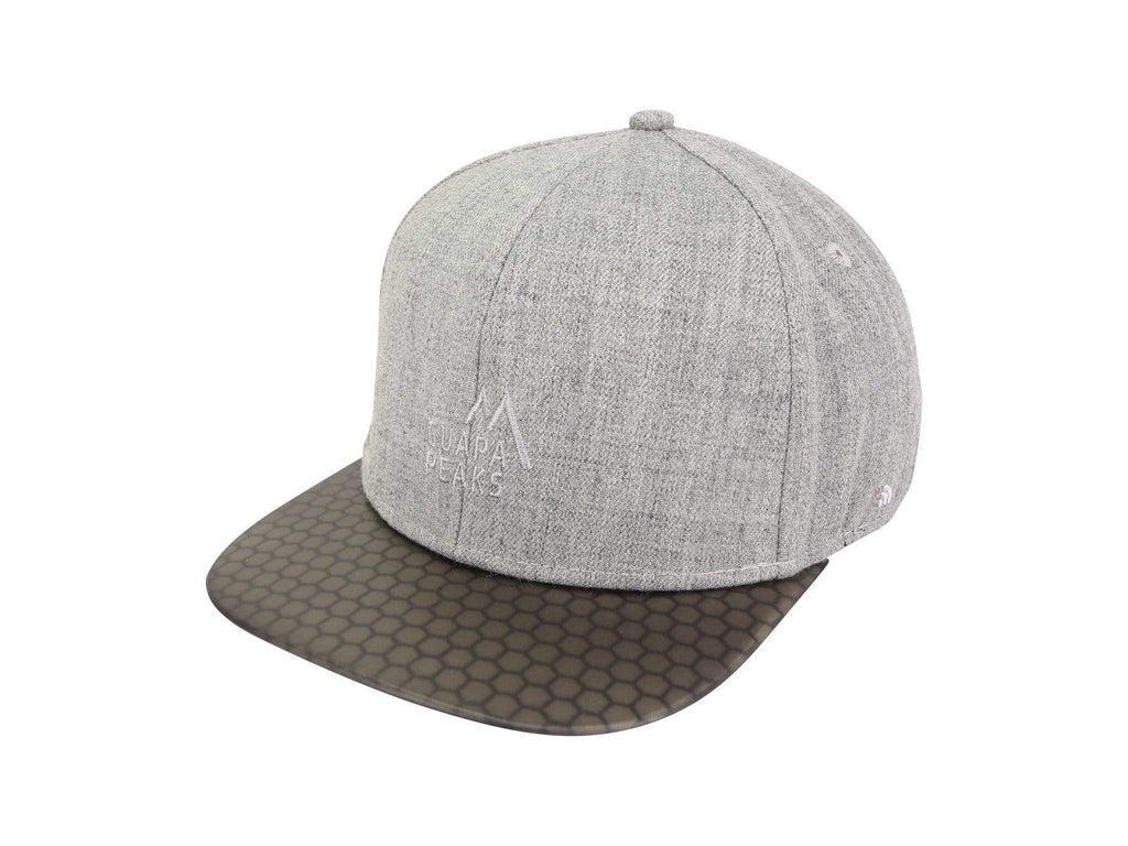 Grey 6 Panel Cap Set | Black Surf + Free Fabric Visor