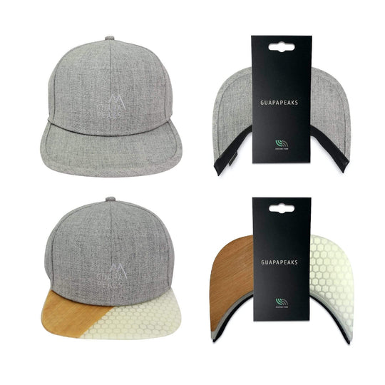 Grey Tweed 6 Panel | Surf Bamboo + Free Visor