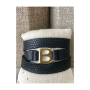 Garamond Leather Wrap Bracelet