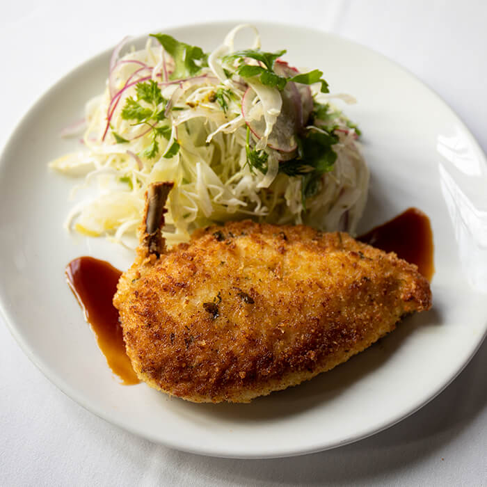 Chicken Schnitzel & Italian Coleslaw, 3 course Dinner for Two